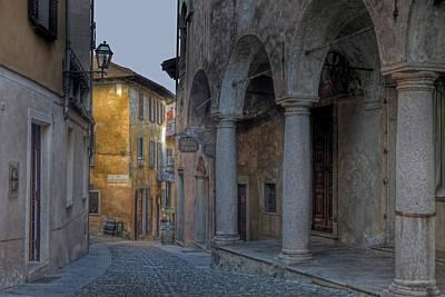 Window Signs Photograph - Cannobio - Italy by Joana Kruse