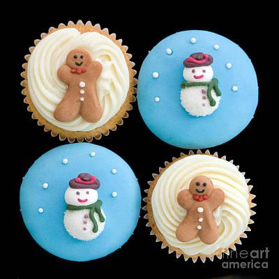 Christmas Cupcakes Print by Ruth Black