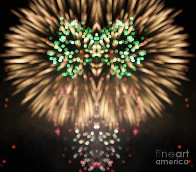 Firework Print by Odon Czintos