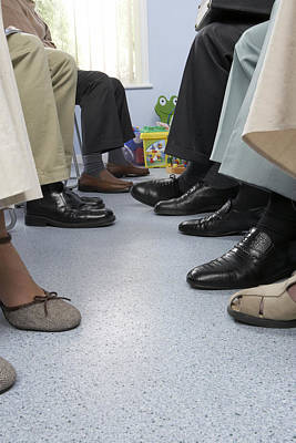 Anticipation Photograph - General Practice Waiting Room by Adam Gault