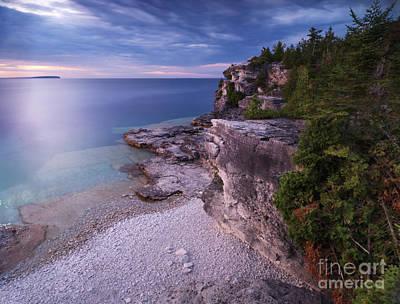 Sunset Photograph - Georgian Bay Cliffs At Sunset by Oleksiy Maksymenko