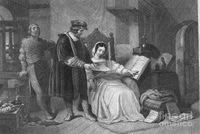 Johannes Gutenberg, German Inventor Print by Photo Researchers