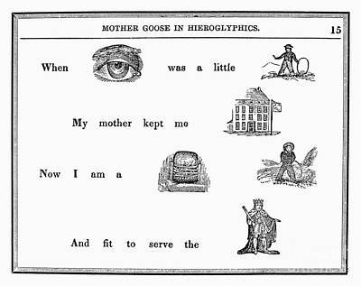 Mother Goose, 1849 Print by Granger