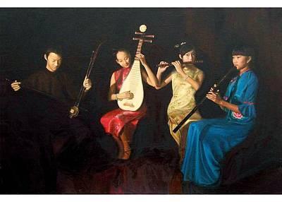 4 Musicians Original by Yan Zhou