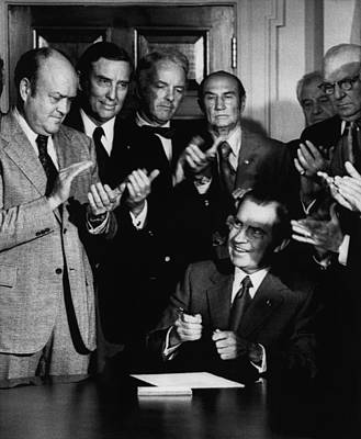 Applaud Photograph - Nixon Presidency.  From Left  Us by Everett