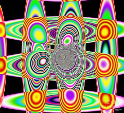 Planetary System Mixed Media - Planetary Rings Maze by Deborah Juodaitis