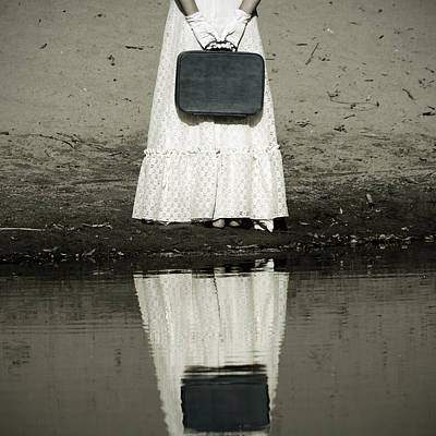 Woman With Suitcase Print by Joana Kruse