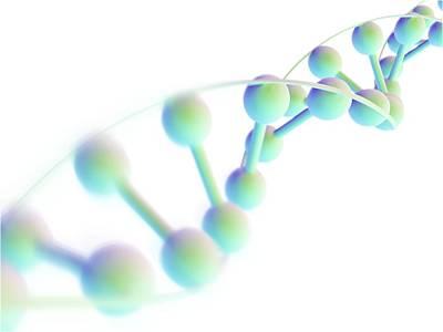 Dna Molecule, Computer Artwork Print by Pasieka
