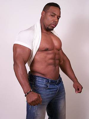 Fitness Photograph - Male Muscle Art  by Jake Hartz