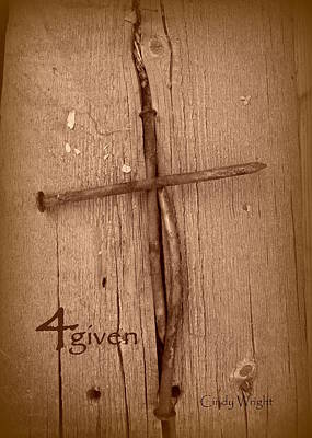 4given Forgiven Print by Cindy Wright