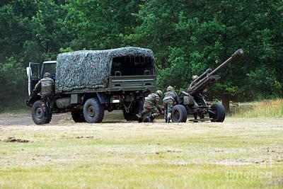 A Belgian Artillery Unit Setting Print by Luc De Jaeger