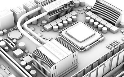 Computer Motherboard, Artwork Print by Pasieka