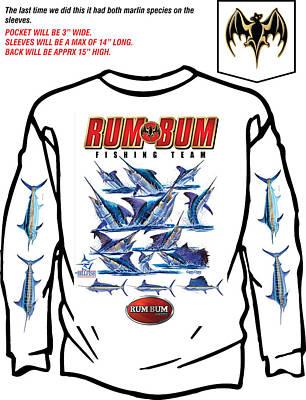 Swordfish Digital Art - Custom T Shirts by Carey Chen