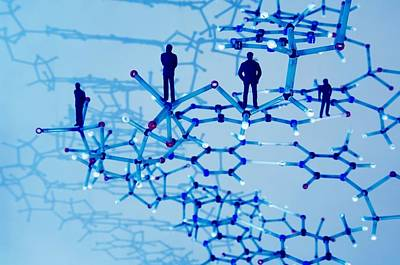 Human Genome, Conceptual Image Print by Lawrence Lawry