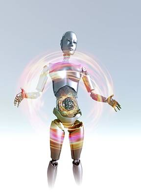 Humanoid Robot, Artwork Print by Victor Habbick Visions