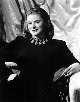 Ingrid Bergman, Portrait Print by Everett