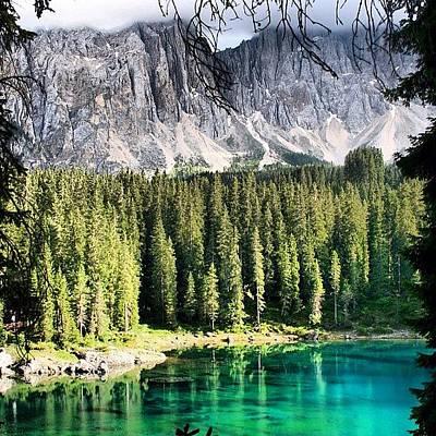 Mountain Photograph - Lake Of Carezza by Luisa Azzolini