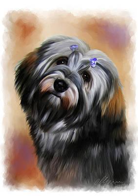 Pet Dog Portrait Print by Michael Greenaway