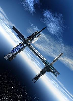 Space Station, Artwork Print by Victor Habbick Visions