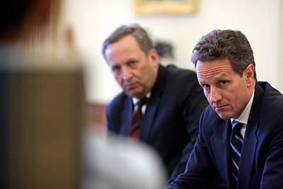 Treasury Secretary Timothy Geithner Print by Everett
