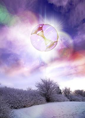 Snow-covered Landscape Photograph - Ufo, Artwork by Victor Habbick Visions