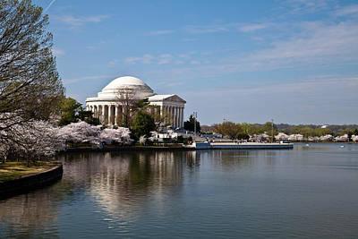 Washington Dc Jefferson Memorial With Cherry Blossoms Original by Dasha Rosato