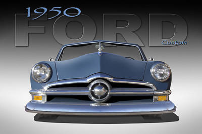Custom Automobile Digital Art - 50 Ford Custom Convertible by Mike McGlothlen
