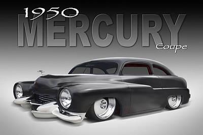 Lowrider Digital Art - 50 Mercury Coupe by Mike McGlothlen