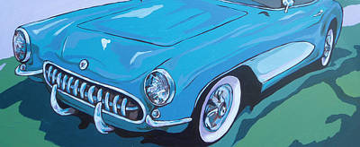 Sports Painting - '53 Corvette by Sandy Tracey