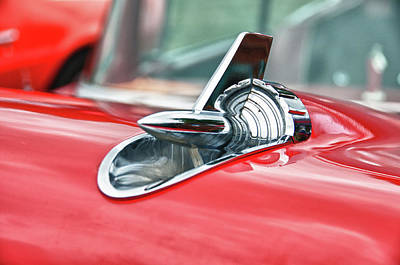 57 Chevy Hood Ornament 8509 Print by Guy Whiteley