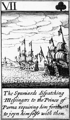 Backup Photograph - Spanish Armada, 1588 by Granger