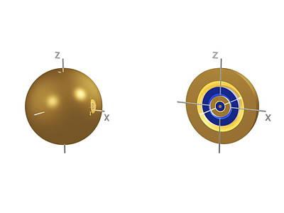 5s Electron Orbital Print by Dr Mark J. Winter