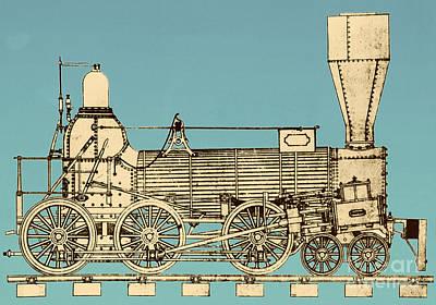 19th Century Locomotive Print by Omikron