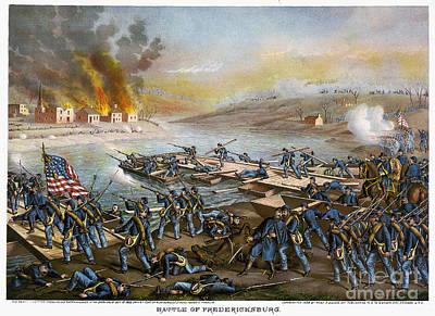 Battle Of Fredericksburg Print by Granger