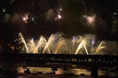 Carnival Victory Photograph - Firework by Odon Czintos