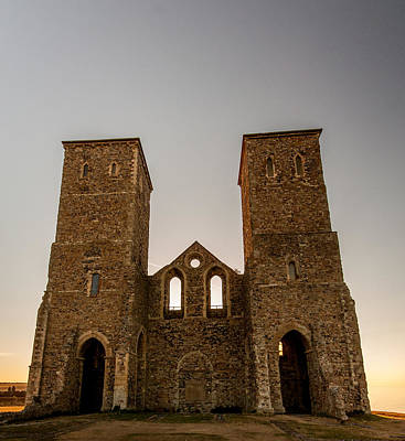 Reculver Photograph - Reculver Towers by Dawn OConnor