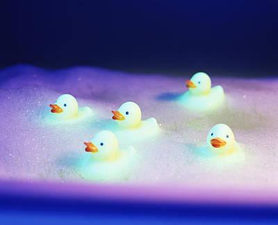 Rubber Ducks Print by Lawrence Lawry