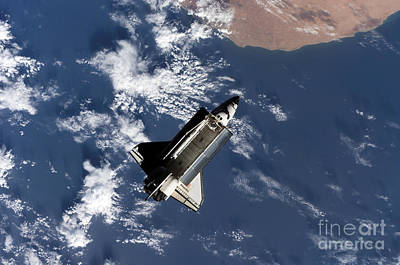 Space Shuttle Atlantis Print by Stocktrek Images
