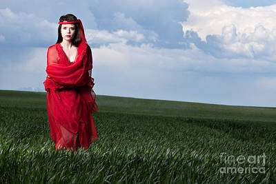 Woman In Red Series Print by Cindy Singleton
