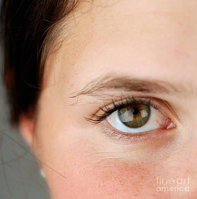Womans Eye Print by Photo Researchers, Inc.
