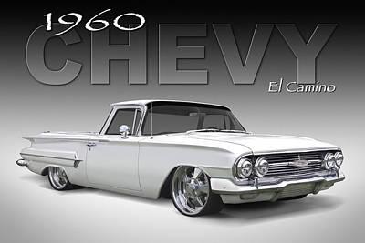 Lowrider Digital Art - 60 Chevy El Camino by Mike McGlothlen