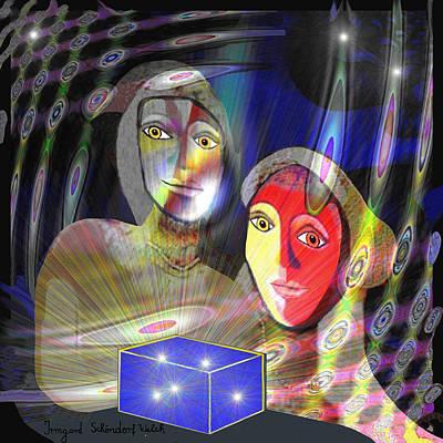 Pandoras Box Digital Art - 662  - Box Of Pandora by Irmgard Schoendorf Welch