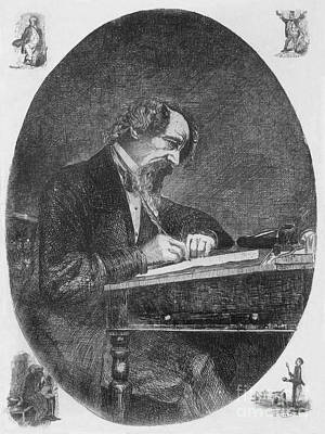 Charles Dickens, English Author Print by Photo Researchers