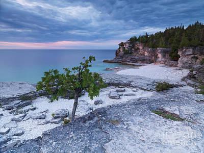 Georgian Bay Cliffs At Sunset Print by Oleksiy Maksymenko