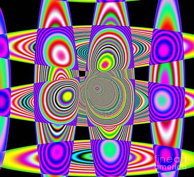 Planetary System Mixed Media - Planetary Ring's Maze by Deborah Juodaitis