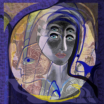 743 - Blue Eyes Print by Irmgard Schoendorf Welch