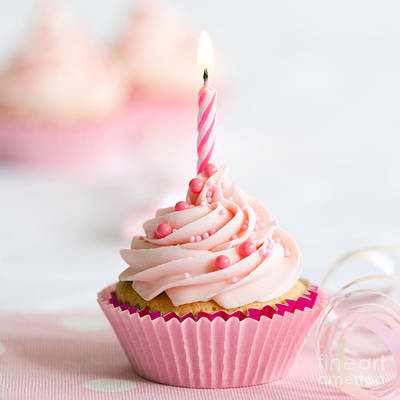 Party Birthday Party Photograph - Birthday Cupcake by Ruth Black