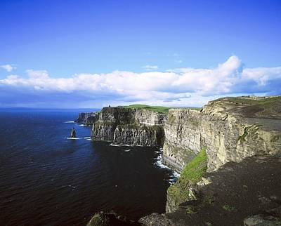 Cliffs Of Moher, Co Clare, Ireland Print by The Irish Image Collection