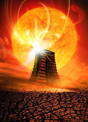 End Of The World In 2012 Conceptual Image Print by Victor Habbick Visions