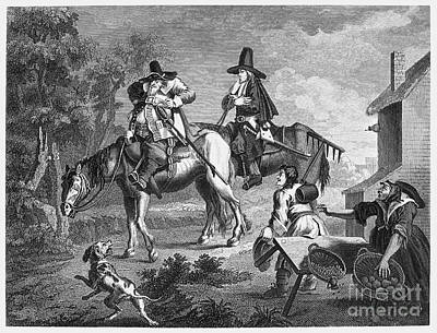 Fat Dog Photograph - Hogarth: Hudibras, 1726 by Granger